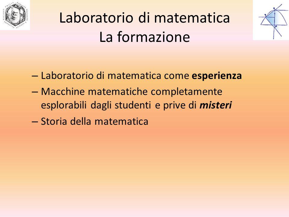 Laboratorio di matematica La formazione