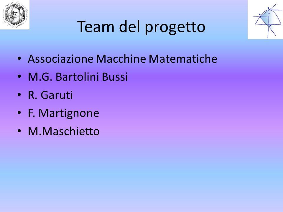 Team del progetto Associazione Macchine Matematiche