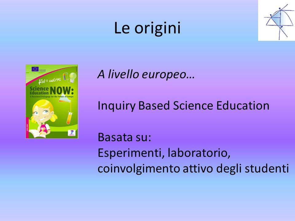 Le origini A livello europeo… Inquiry Based Science Education