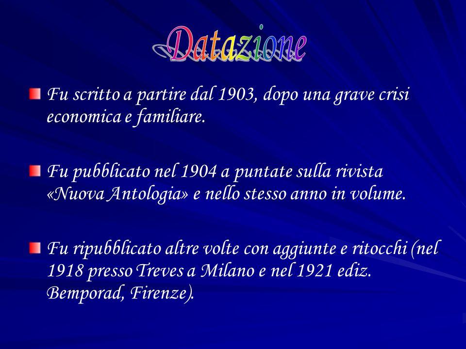 DatazioneFu scritto a partire dal 1903, dopo una grave crisi economica e familiare.