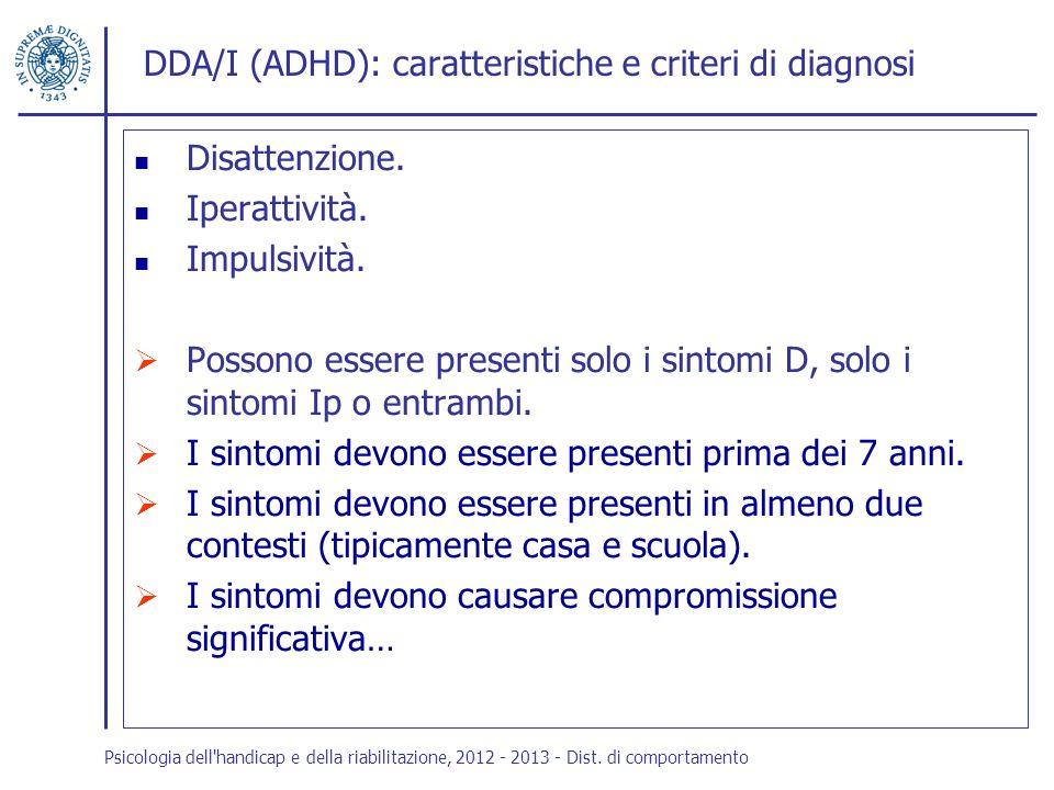 DDA/I (ADHD): caratteristiche e criteri di diagnosi