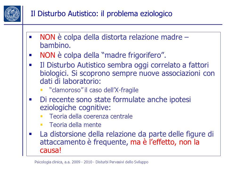 Il Disturbo Autistico: il problema eziologico