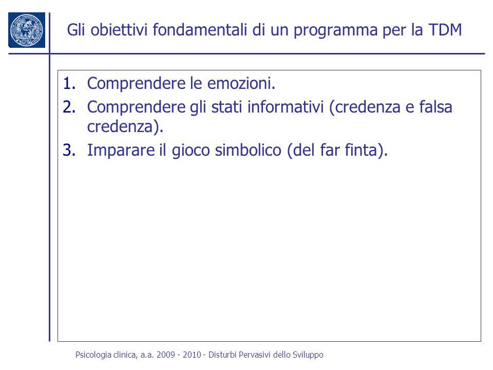 Gli obiettivi fondamentali di un programma per la TDM
