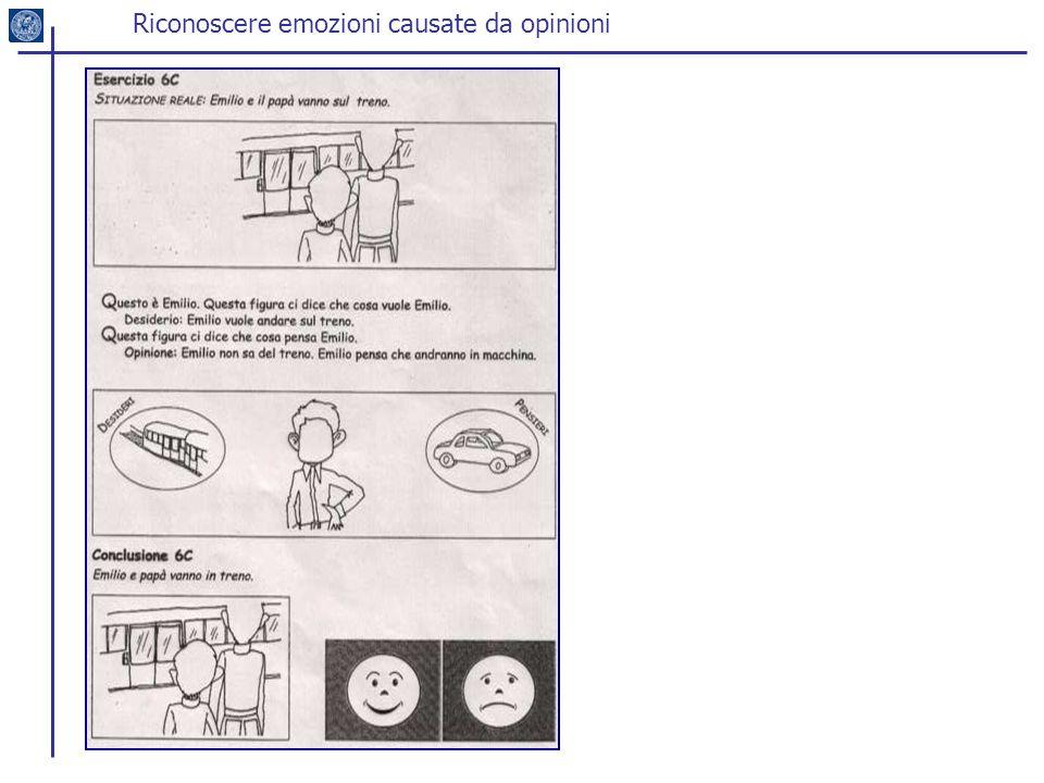 Riconoscere emozioni causate da opinioni