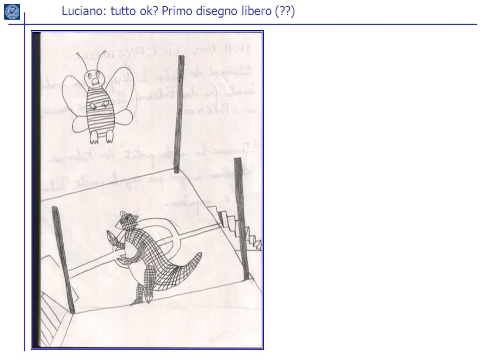 Luciano: tutto ok Primo disegno libero ( )