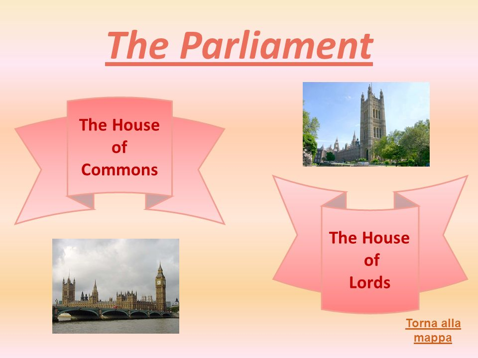 The Parliament The House of Commons The House of Lords