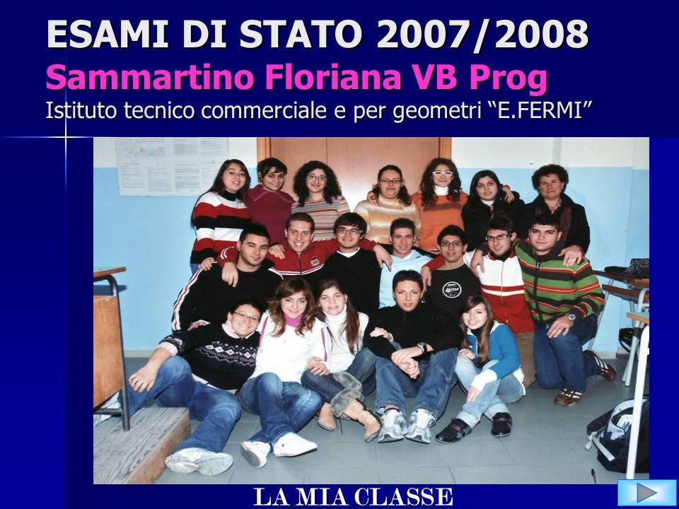 ESAMI DI STATO 2007/2008 Sammartino Floriana VB Prog Istituto tecnico commerciale e per geometri E.FERMI