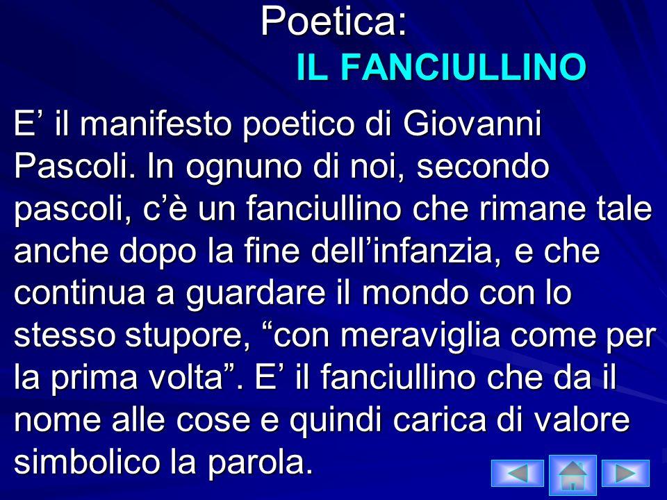 Poetica: IL FANCIULLINO
