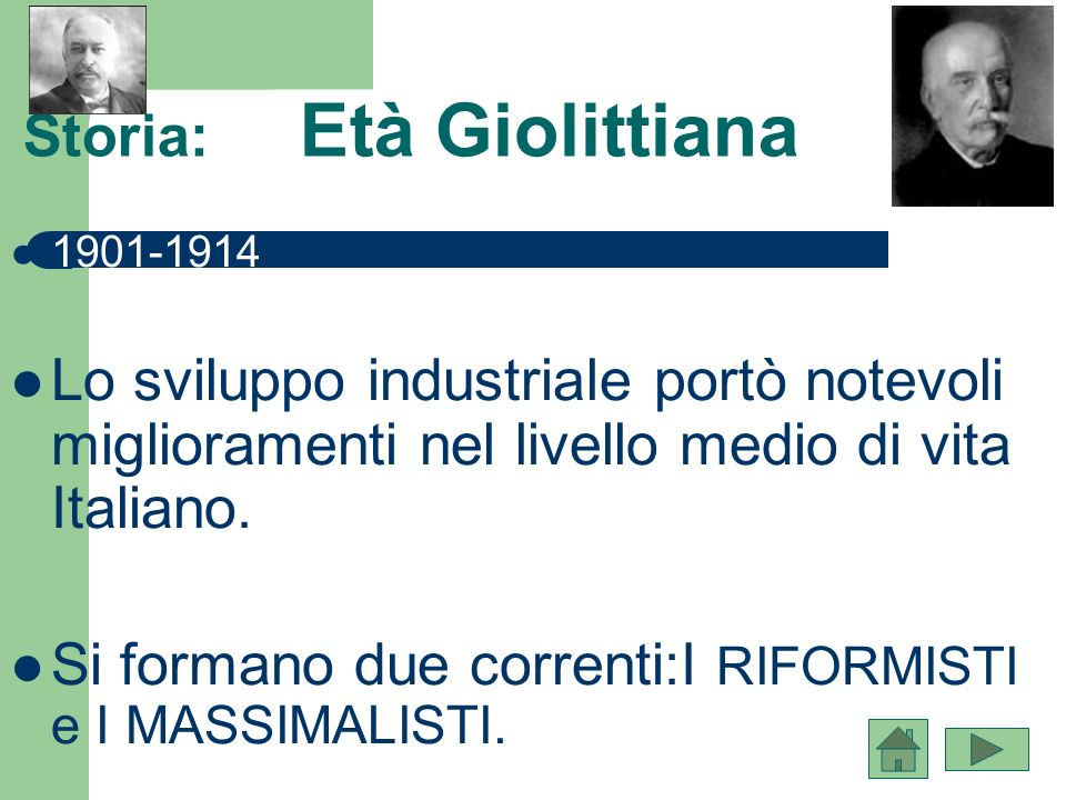 Storia: Età Giolittiana