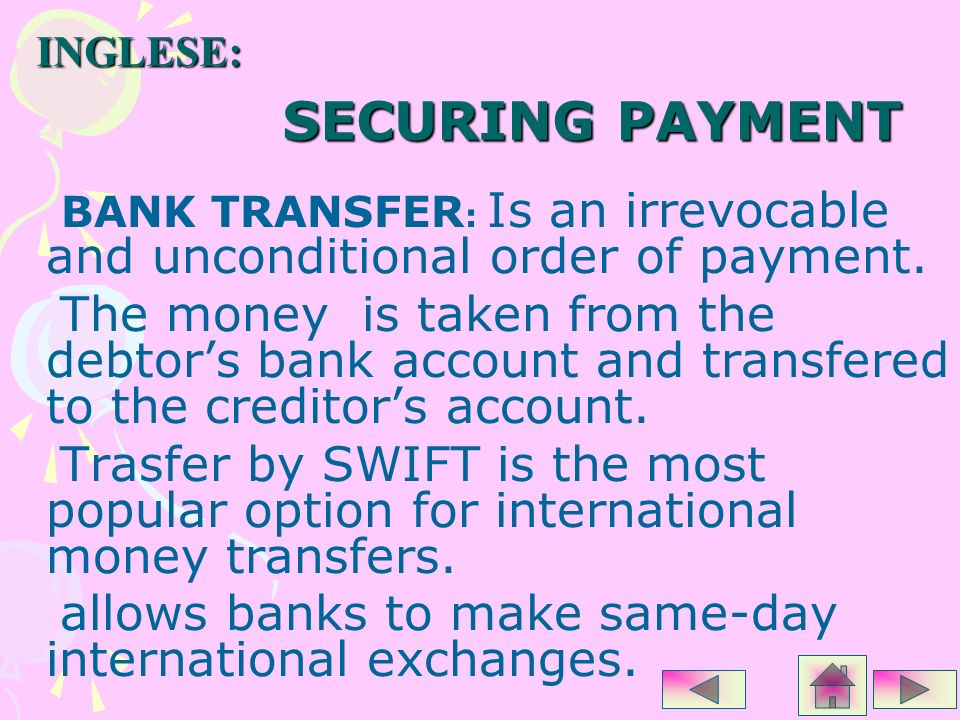 allows banks to make same-day international exchanges.