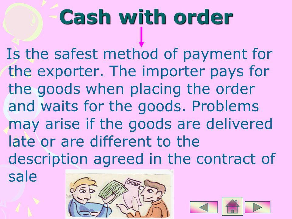 Cash with order