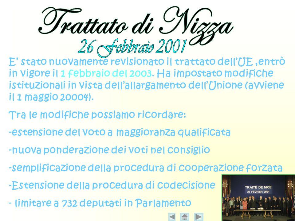 Trattato di Nizza 26 Febbraio 2001