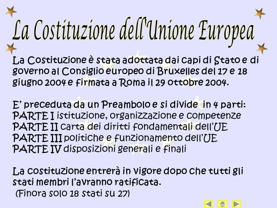 La Costituzione dell Unione Europea