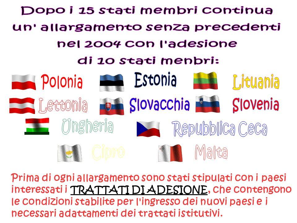 Dopo i 15 stati membri continua un allargamento senza precedenti