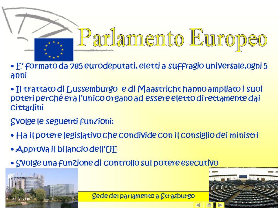 Sede del parlamento a Strasburgo