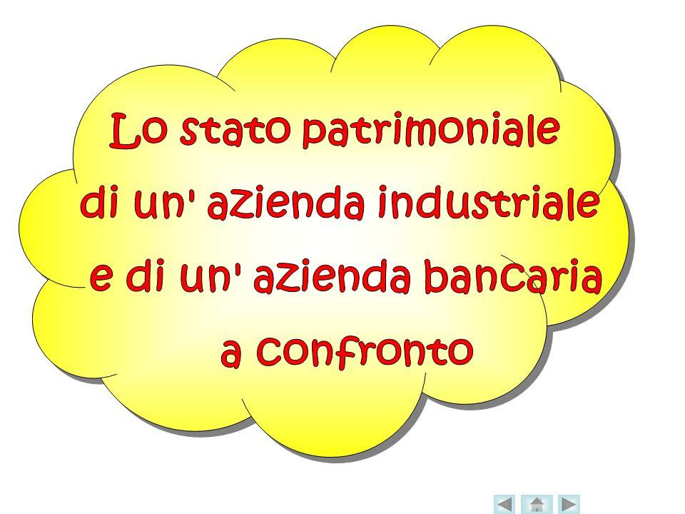 di un azienda industriale e di un azienda bancaria