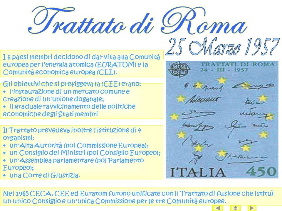 Trattato di Roma 25 Marzo 1957.