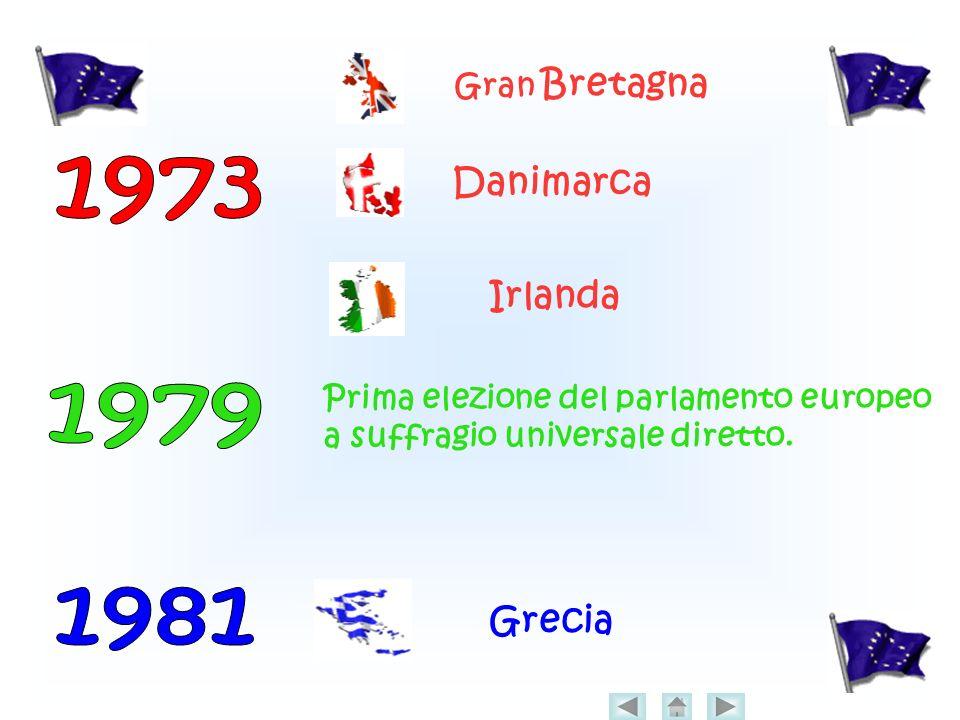 1973 1979 1981 Danimarca Irlanda Grecia Gran Bretagna