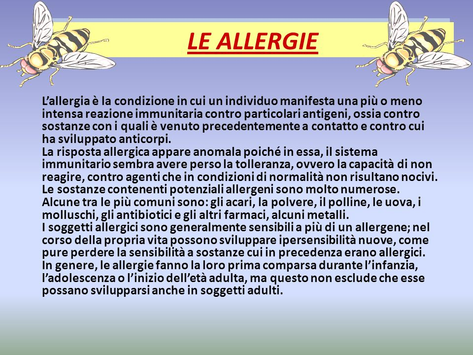 LE ALLERGIE