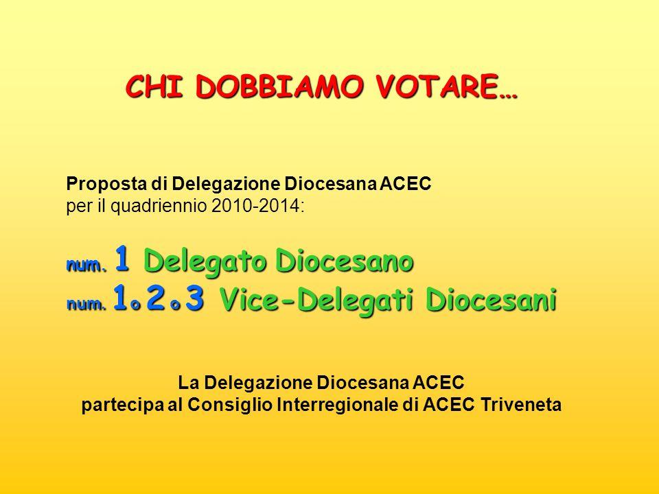 CHI DOBBIAMO VOTARE… Proposta di Delegazione Diocesana ACEC