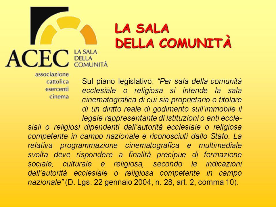 LA SALA DELLA COMUNITÀ.