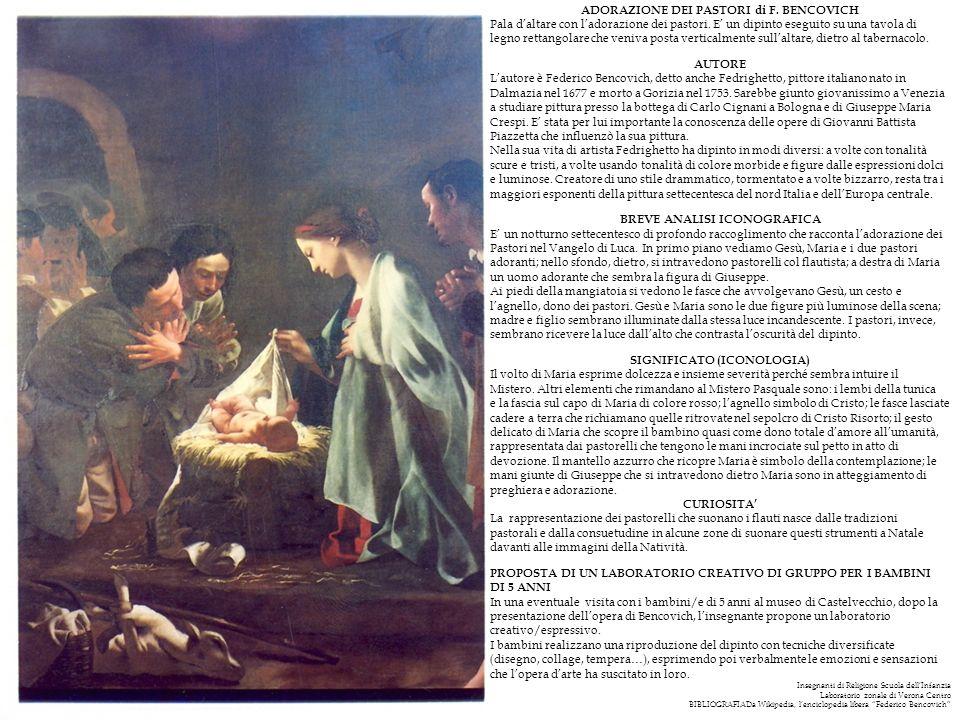 ADORAZIONE DEI PASTORI di F. BENCOVICH