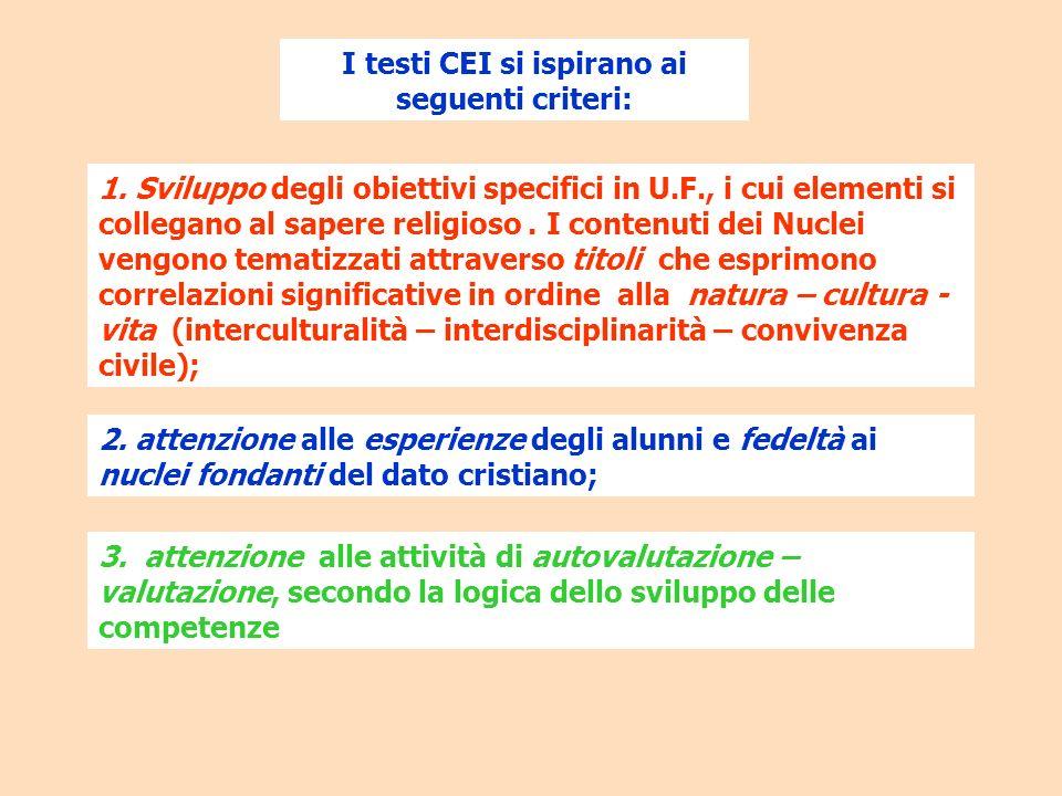 I testi CEI si ispirano ai seguenti criteri: