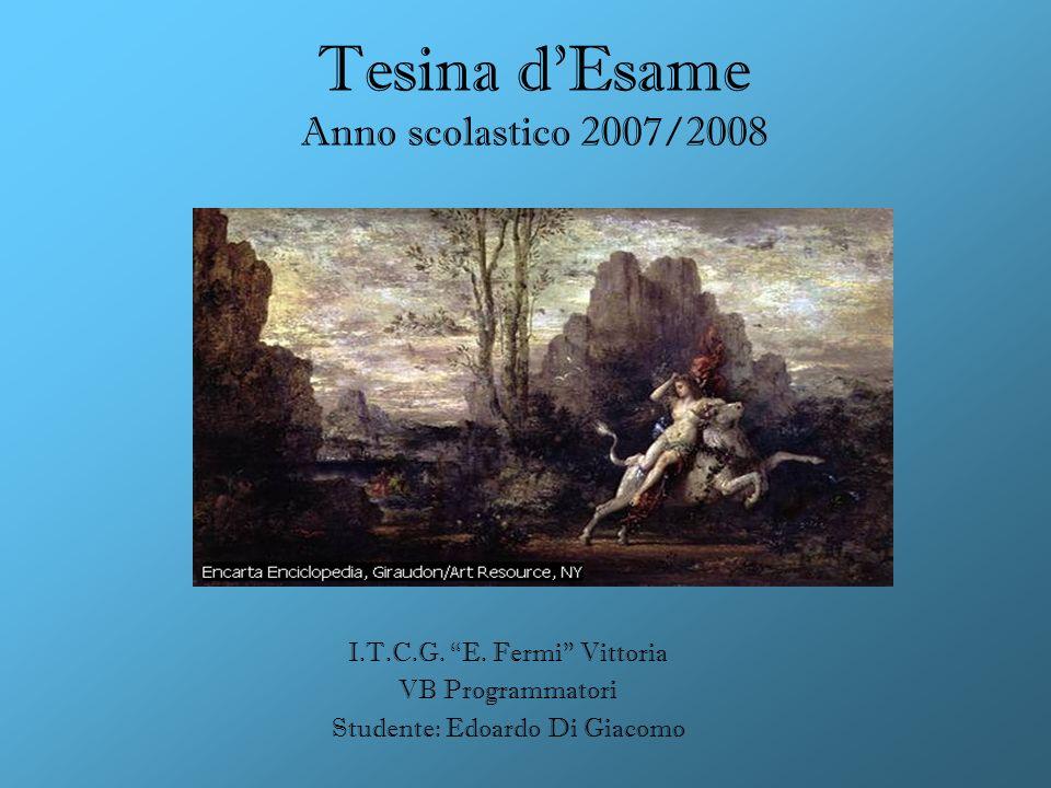 Tesina d'Esame Anno scolastico 2007/2008