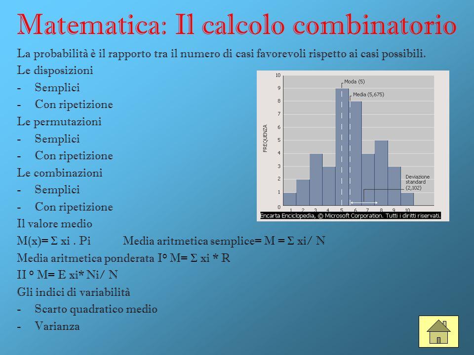 Matematica: Il calcolo combinatorio