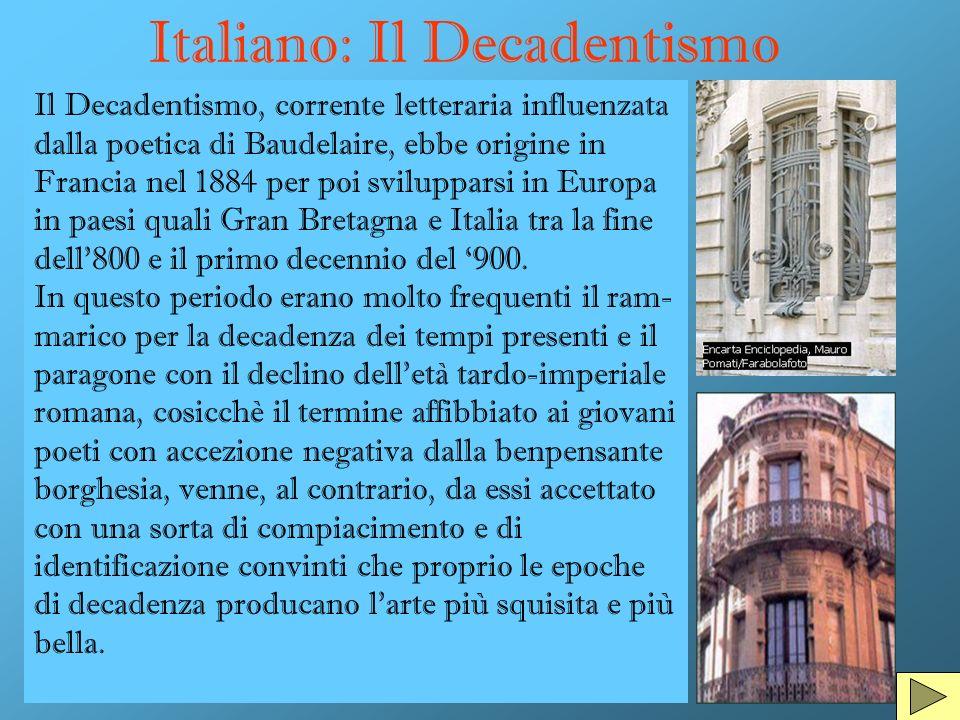 Italiano: Il Decadentismo