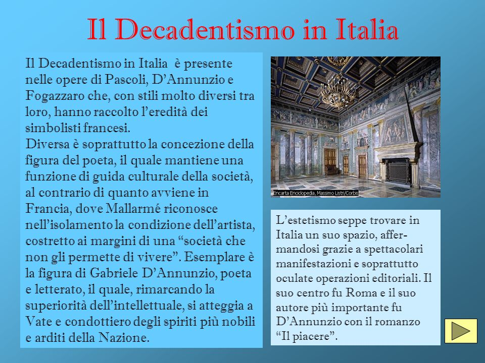 Il Decadentismo in Italia