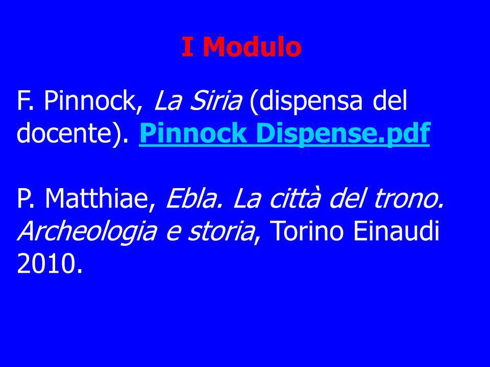 I Modulo F. Pinnock, La Siria (dispensa del docente). Pinnock Dispense.pdf.