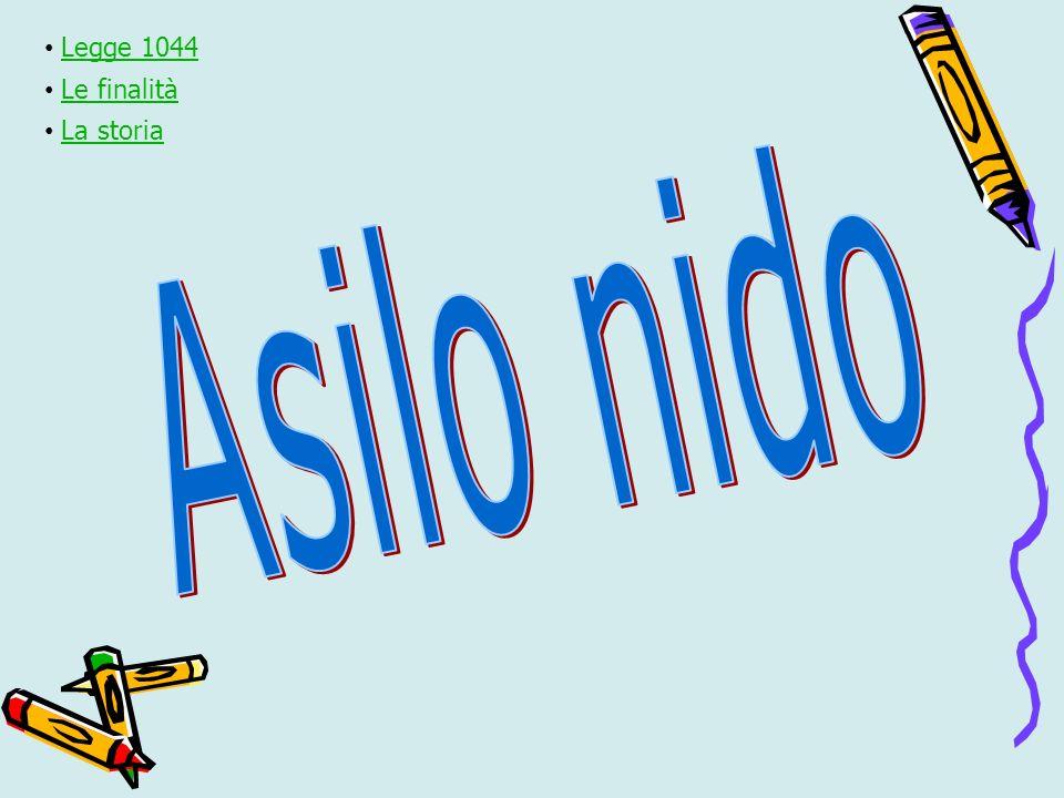 Legge 1044 Le finalità La storia Asilo nido