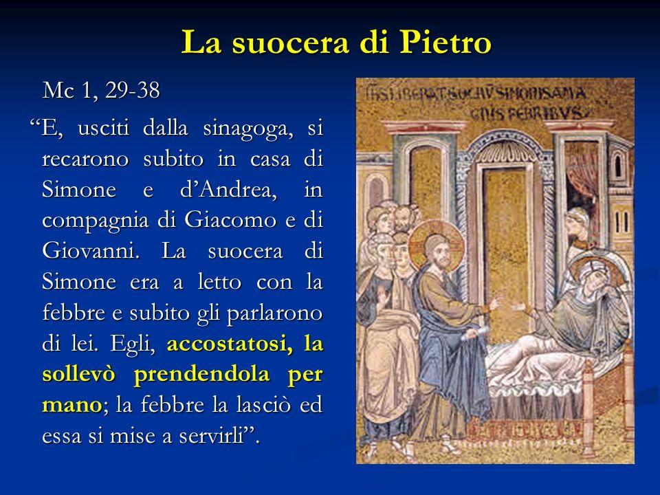 La suocera di Pietro Mc 1, 29-38