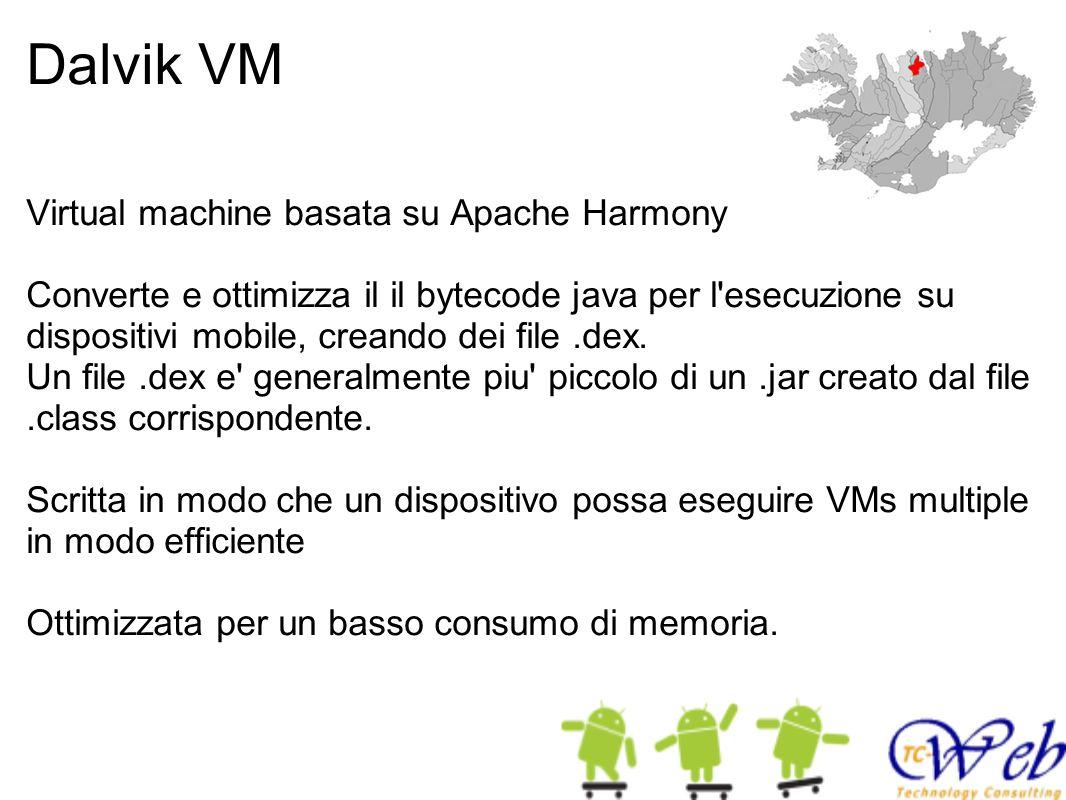 Dalvik VM Virtual machine basata su Apache Harmony