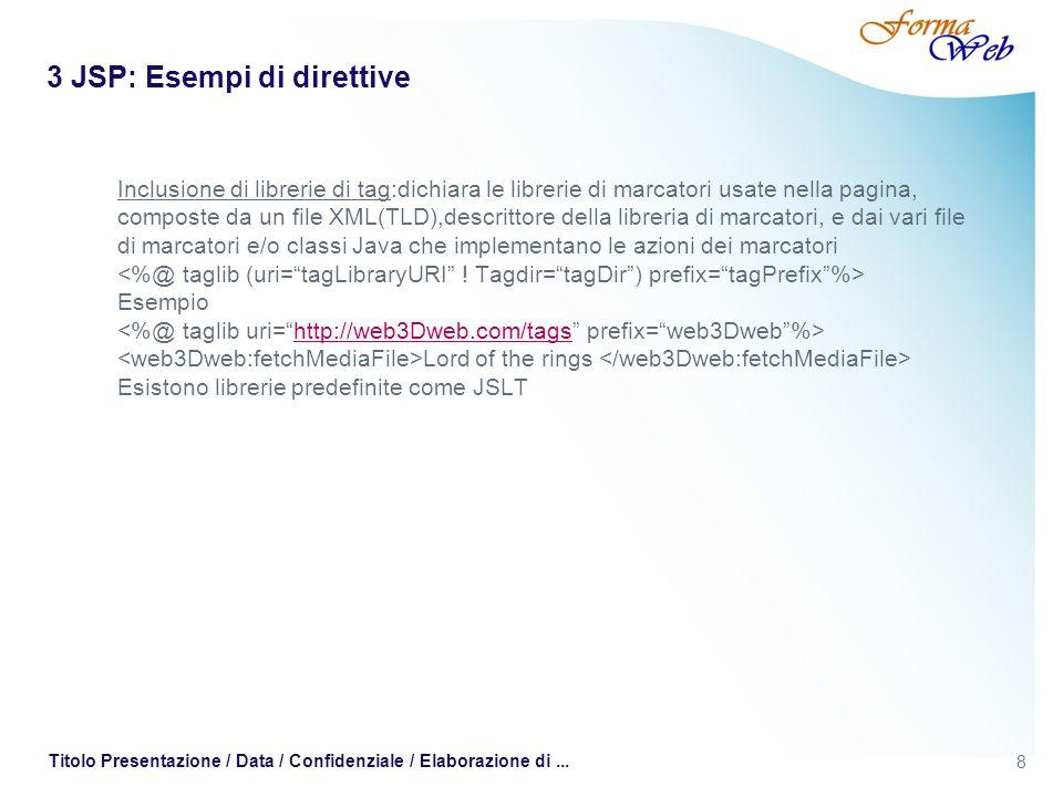 3 JSP: Esempi di direttive