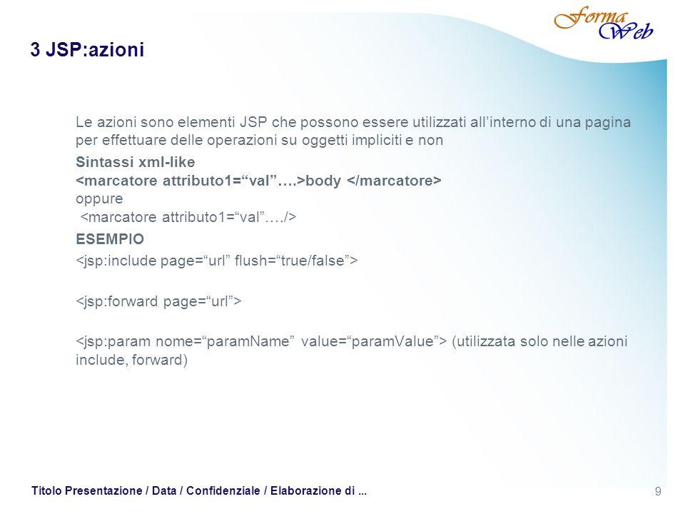 3 JSP:azioni