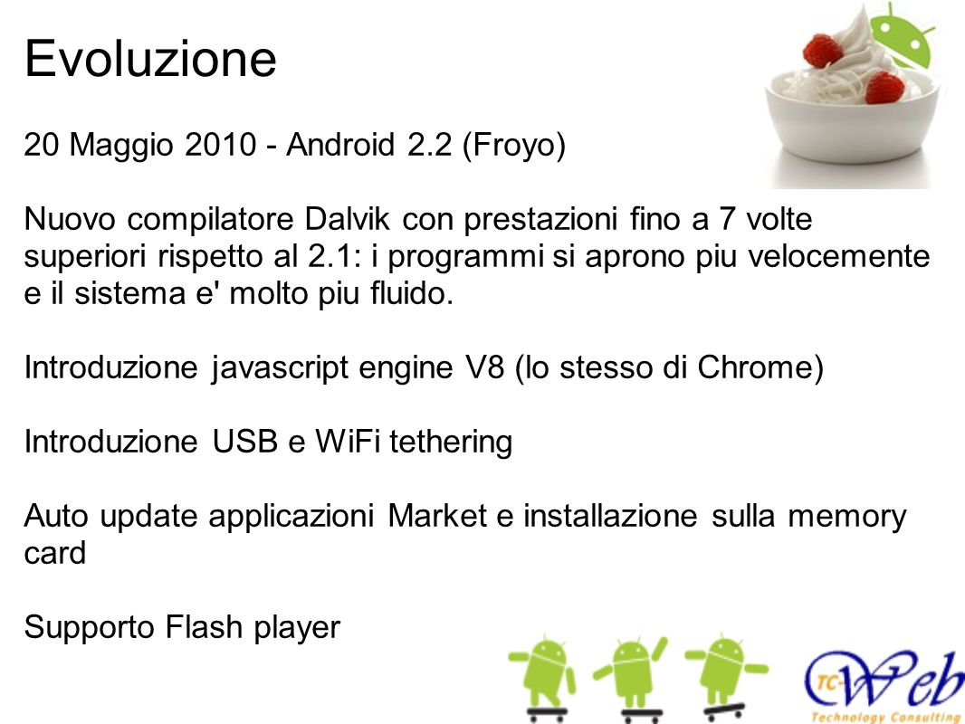 Evoluzione 20 Maggio 2010 - Android 2.2 (Froyo)