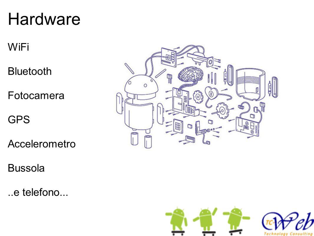Hardware WiFi Bluetooth Fotocamera GPS Accelerometro Bussola