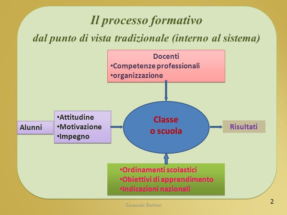 dal punto di vista tradizionale (interno al sistema)