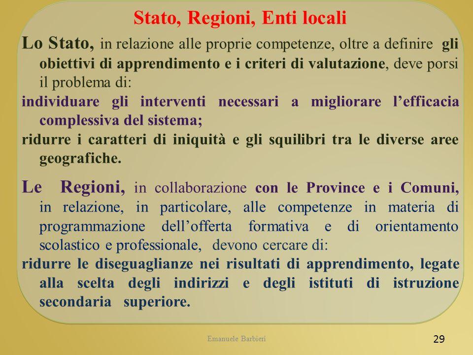 Stato, Regioni, Enti locali