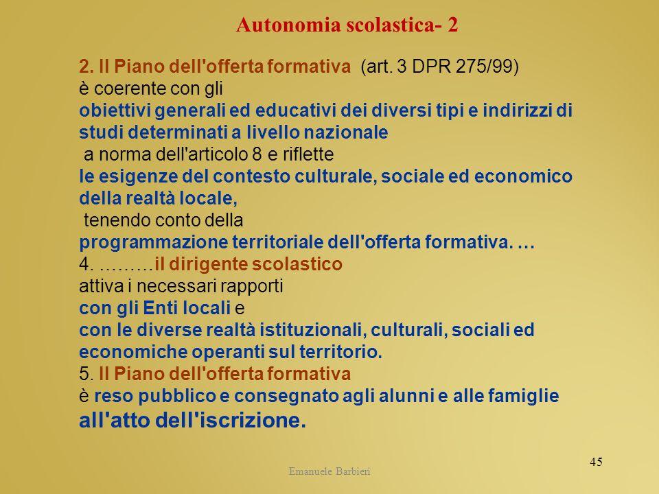 Autonomia scolastica- 2