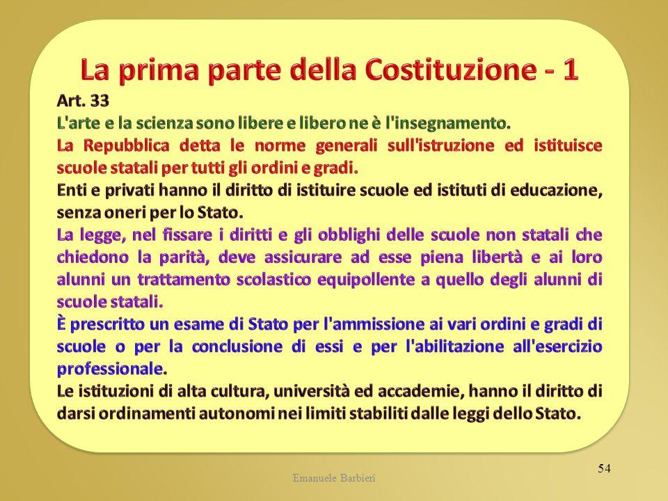La prima parte della Costituzione - 1