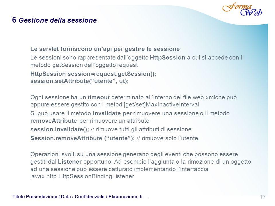 6 Gestione della sessione