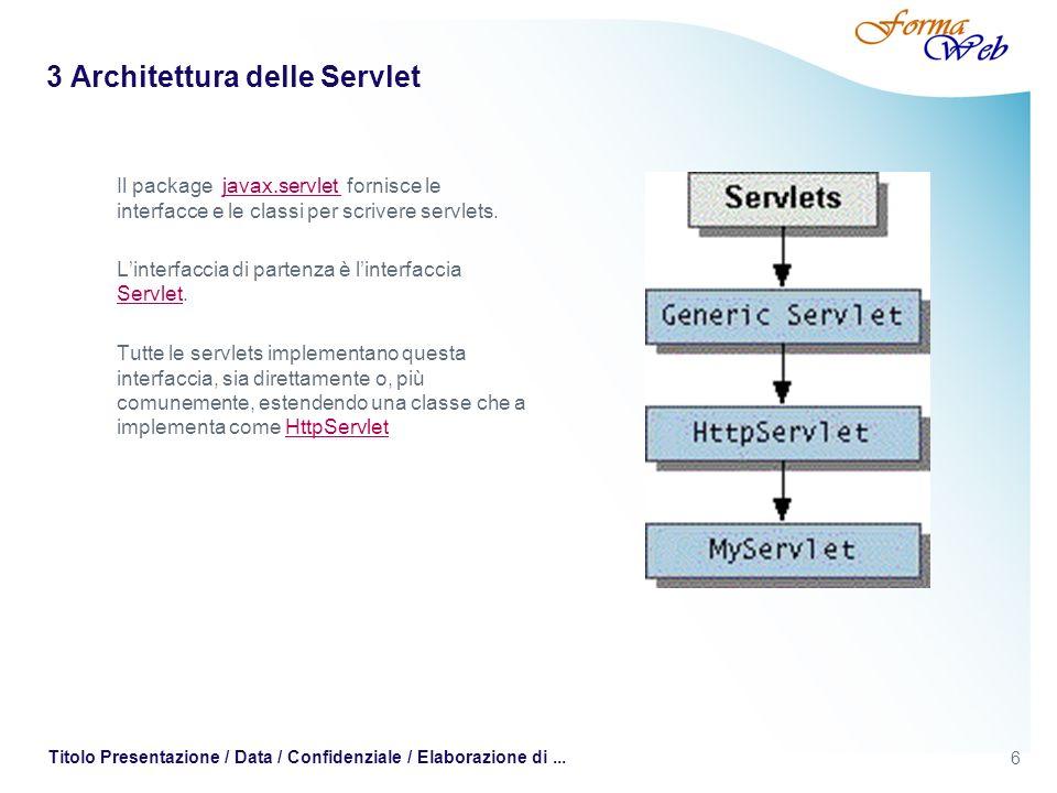 3 Architettura delle Servlet