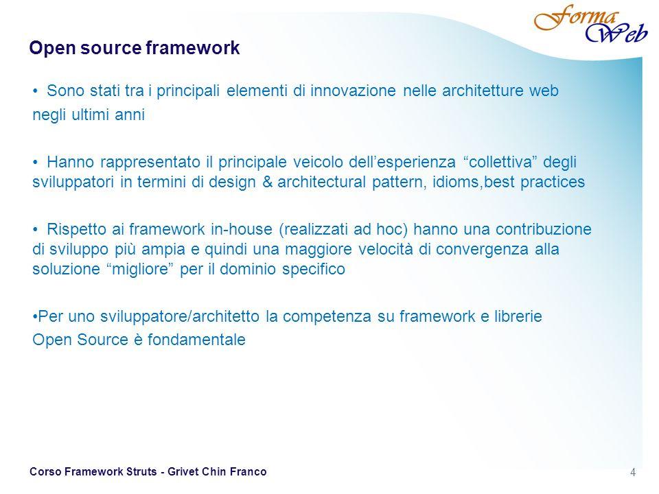 Open source framework Sono stati tra i principali elementi di innovazione nelle architetture web. negli ultimi anni.