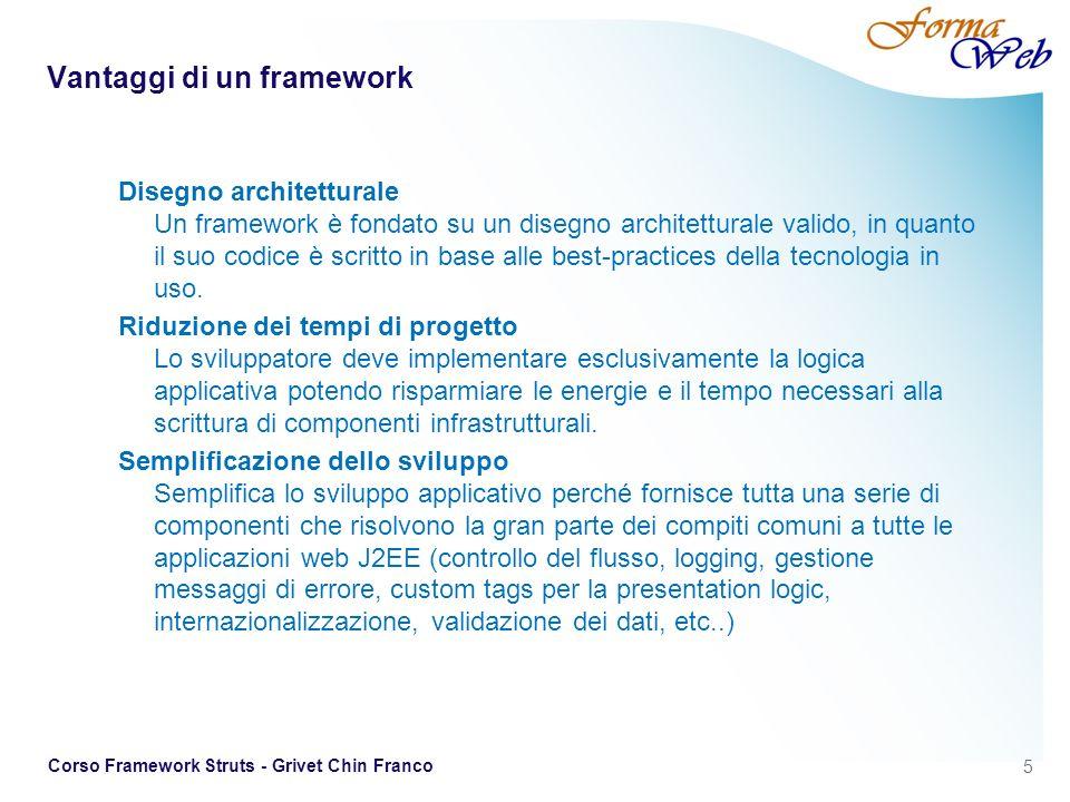 Vantaggi di un framework