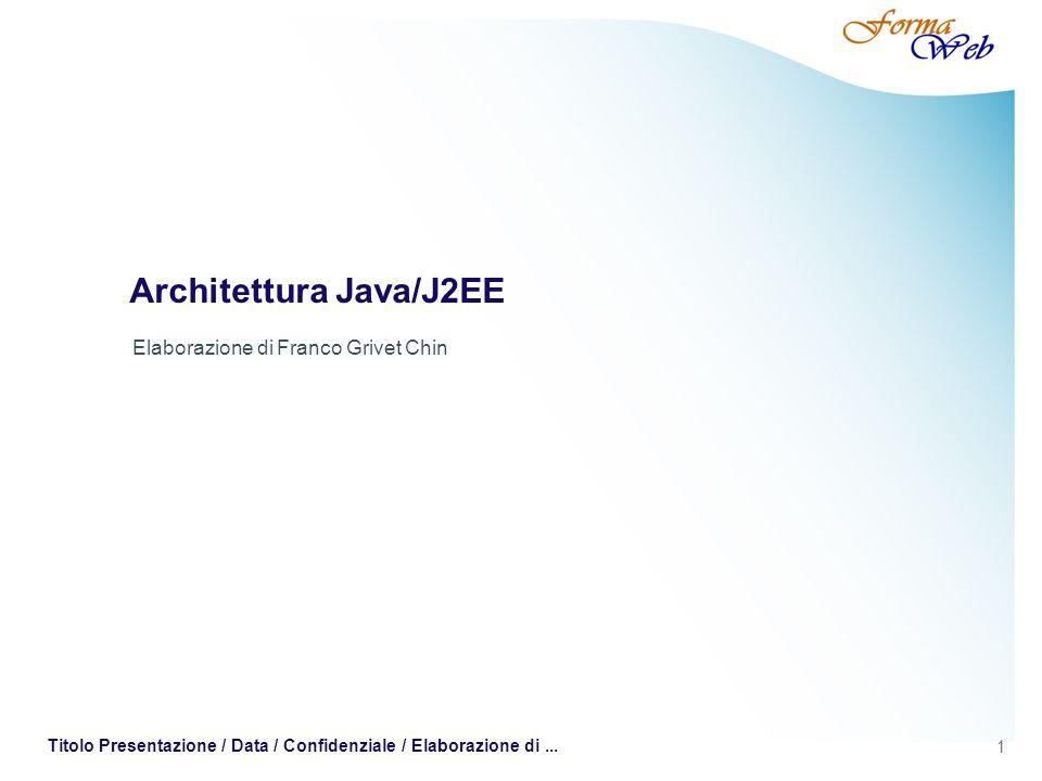 Architettura Java/J2EE