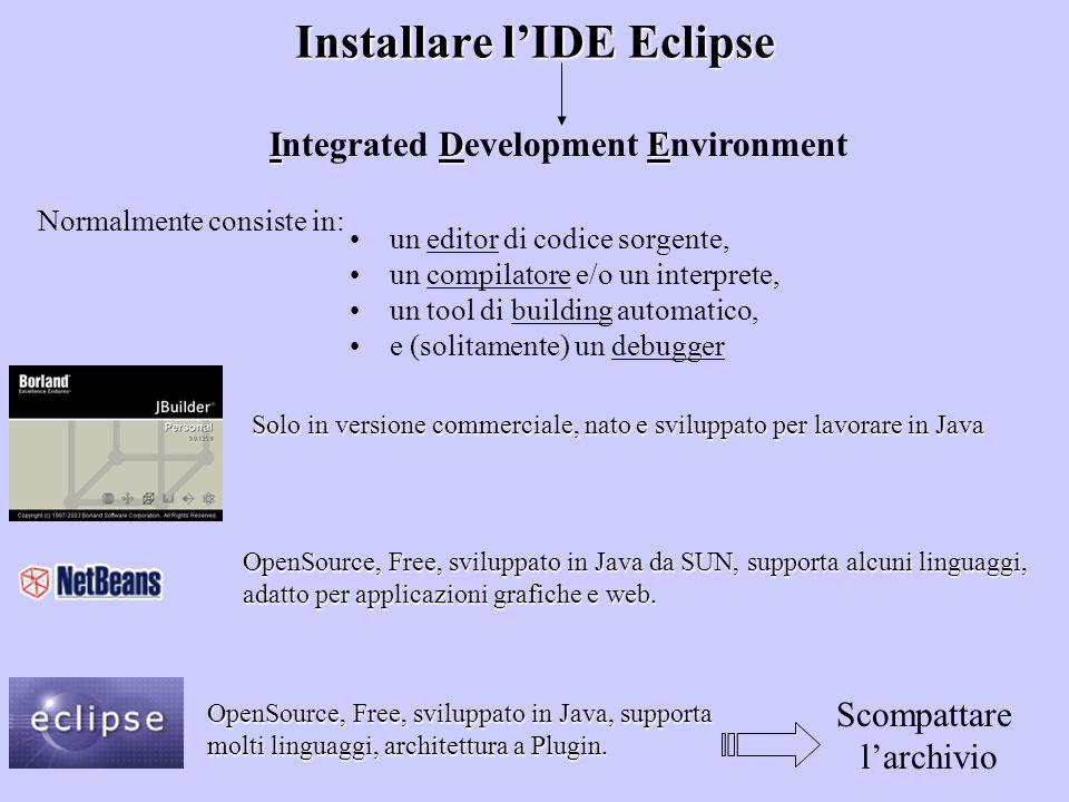 Installare l'IDE Eclipse