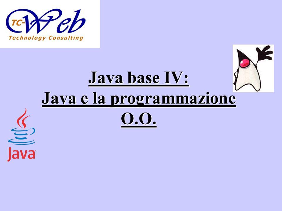 Java base IV: Java e la programmazione O.O.